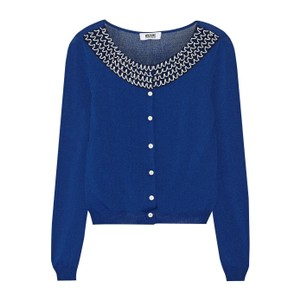 Moschino Beaded Knit Embellished Button-up Cardigan