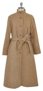 Vintage 1960s 60s Wool Belted Trench Coat