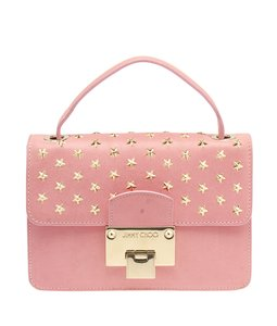 Jimmy Choo Rebel Star Studded Pink Clutch