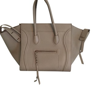 Cline Phantom Smooth Leather Medium Tote in Putty