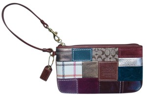 Coach Patchwork Holiday Bleecker Wristlet in multicolor