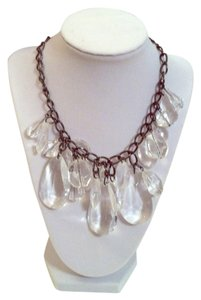 Express Lucite and Gunmetal Statement Necklace