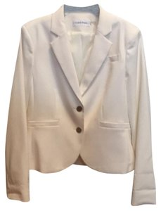 Calvin Klein Jacket Suit Coat Cream Blazer
