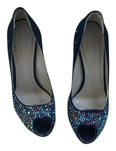 Alexander McQueen Highheel Navy with sparkles Pumps