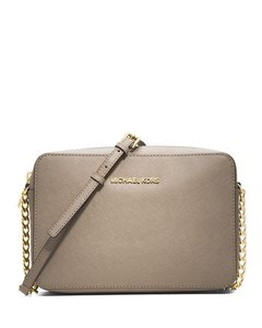 Michael Kors Gold Hardware Taupe Shoulder Bag