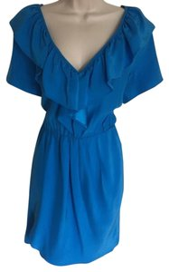 Amanda Uprichard Silk Ruffled Bust Dress