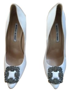 Lanvin Wedding Sparkle High Heel White Pumps
