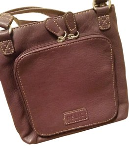 Relic Leather Zipper Closure Cross Body Bag