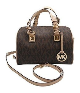 Michael Kors Medium Grayson Satchel in brown