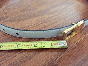 GUCCI leather reversible belt 2 colors GUCCI reversible leather belt gold tone buckle Made in Italy