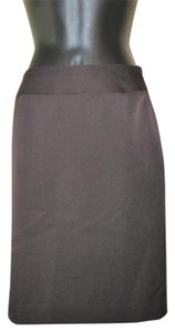 AK Anne Klein Stretchy Lined Side Zipper Pencil Skirt Brown