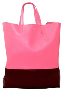 Cline Burgundy New Celine Tote in Pink