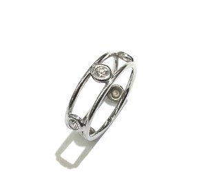 Tiffany & Co. Tiffany & Co Elsa Peretti Platinum Diamonds By The Yard Double Wire Ring Sz 5.5