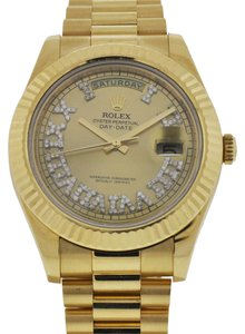Rolex Rolex 218238 Day-Date II Yellow Gold Diamond Dial Watch