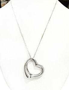 Tiffany & Co. Tiffany & Co Open Heart Sterling Silver Necklace 18
