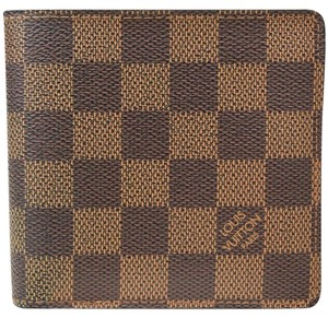 Louis Vuitton Authentic Louis Vuitton Wallet Browns Damier Mens