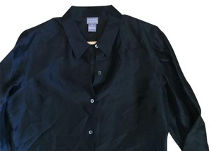 Sigrid Olsen Button Down Shirt Black