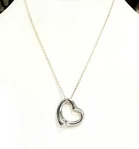Tiffany & Co. Tiffany & Co Open Heart Sterling Silver Necklace 16