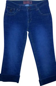 Mossimo Supply Co. Rolled Up Rolled Cropped Capri/Cropped Denim-Dark Rinse