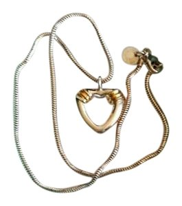 Tiffany & Co. RARE Tiffany & Co Elsa Peretti Steering Silver/Gold heart necklace