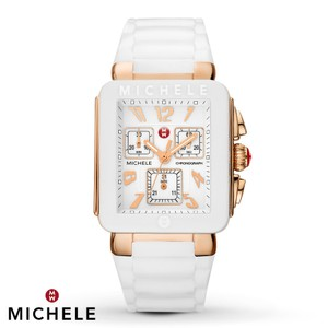 Michele BRAND NEW MICHELE JELLY BEAN PARK WHITE / ROSE GOLD watch MWW06L000014
