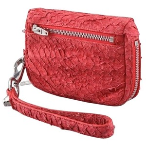 Alexander Wang Wristlet in Red, Silver