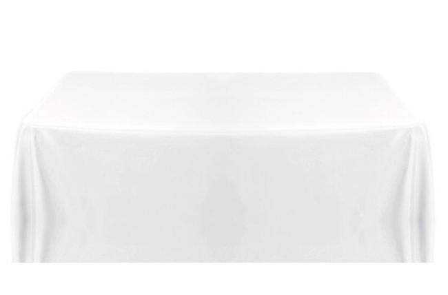 """Item - White 90"""" X 156"""" Polyester Tablecloth Tableware"""