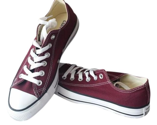 Item - Burgundy Adult Chuck Taylor All-star Leather Sneakers Size US 8 Regular (M, B)