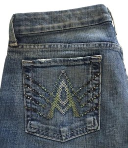 7 For All Mankind Crop A Pocket Capri/Cropped Denim-Medium Wash