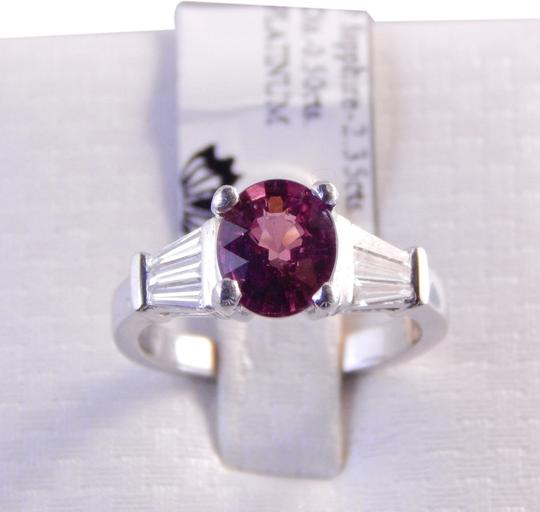 Preload https://item4.tradesy.com/images/white-genuine-oval-pink-sapphire-with-tapered-baguette-diamonds-platinum-ring-1963593-0-0.jpg?width=440&height=440