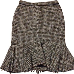 Anthropologie Skirt Green and blue and yellow