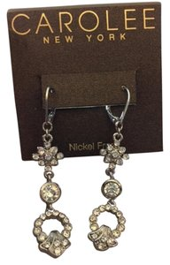 Carolee Carolee silver/rhinestone earrings (dangle)