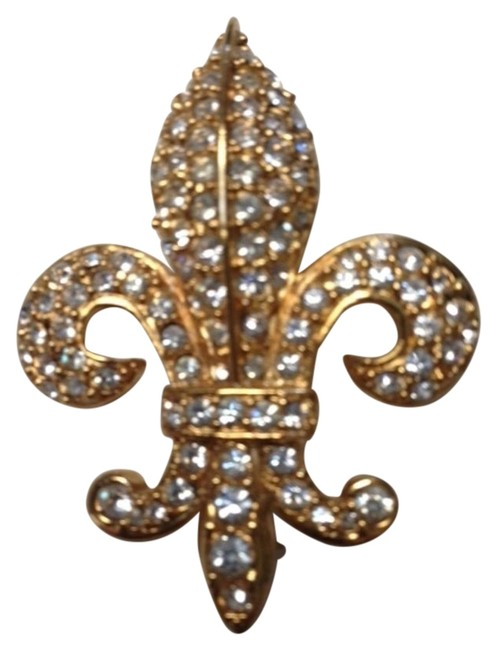 Joan Rivers Gold Tone Vintage 1990's Signed Fleur-de-lis Brooch Joan Rivers Gold Tone Vintage 1990's Signed Fleur-de-lis Brooch Image 1