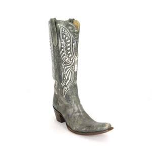 Old Gringo Cowboy Embroidered Classic Gray Boots