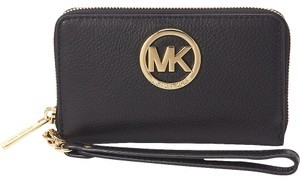 Michael Kors NWT Fulton Leather Lg Multi Function Phone Case Wallet Wristlet