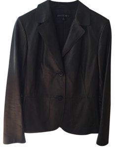 Lafayette 148 New York Leather Lambskin Jacket black Blazer