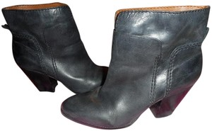 Nine West Leather Bootie Dress Dark Gray Boots