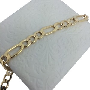 Other 14K Yellow Gold Figaro Bracelet ~6.10mm 8 Inches