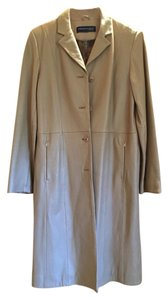 Kenneth Cole Leather Trench Trench Coat
