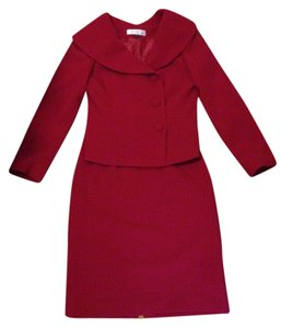 Tahari Red suit