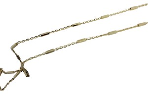 Other 14K Yellow Gold Bar Mix with Cable Chain Necklace 16 Inches