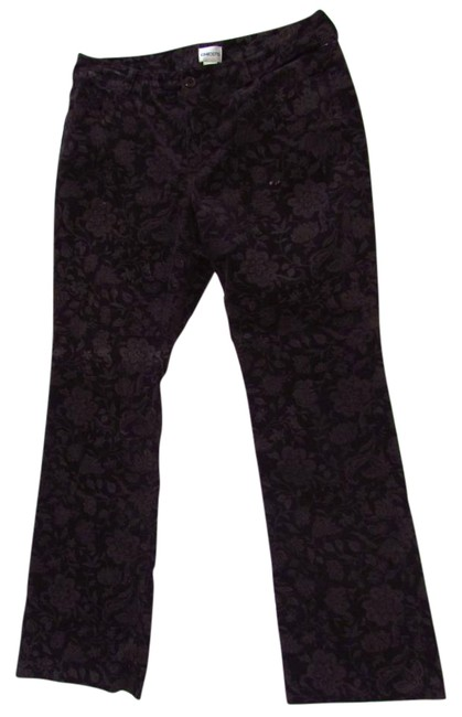 Chico's Floral Velvet Boot Cut Pants 50%OFF