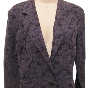 Apostrophe Luxury is a State Of Mind Blazer Dressy Looking Button Down Shirt deep rich purple