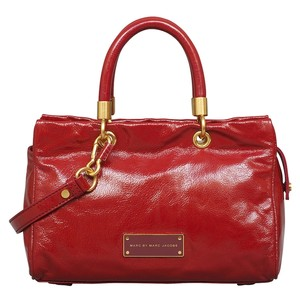 Marc by Marc Jacobs Too Hot To Handle Patent Leather Satchel in Cabernet Red