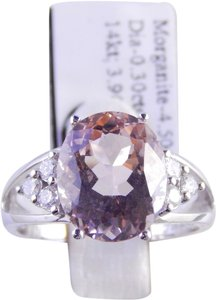 Other GENUINE MORGANITE RING WITH DIAMOND ACCENT