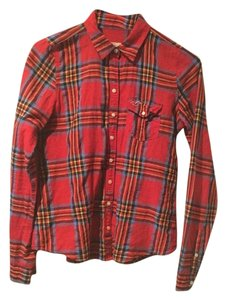 Aéropostale Button Down Shirt Red