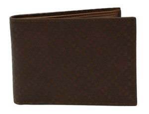 Gucci GUCCI 292534 Men's Diamante Leather Bifold Wallet, Brown
