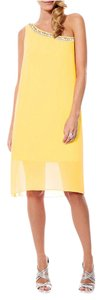 Laundry by Shelli Segal One Shoulder Beaded Dress