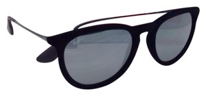 Ray-Ban RAY-BAN Sunglasses RB 4171 ERIKA 6075/6G 54-18 Black Velvet w/ Mirror