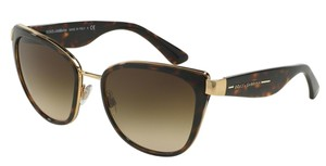 Dolce&Gabbana Dolce & Gabbana 2107 Sunglasses DG2107 Gold Brown 0213 Authentic